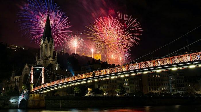 London new year fireworks celebration