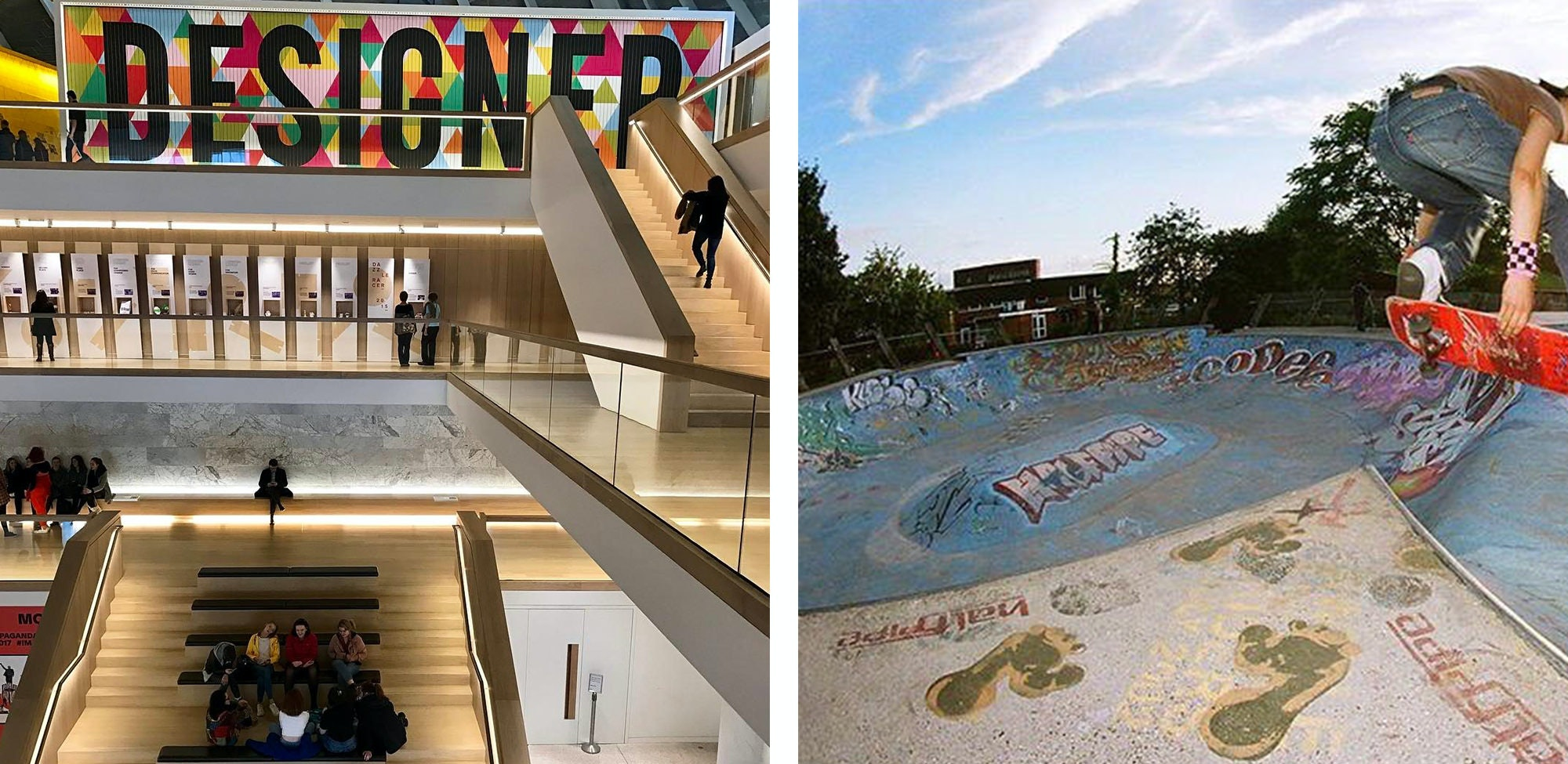 Teenagers can have a great time in London. Take them to the Design Museum or to the Meanwhile Gardens skate-park and they'll have a blast.
